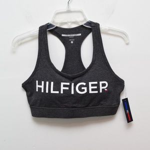 64145ed75a4 Tommy Hilfiger Sport Bra Large Gray Spellout